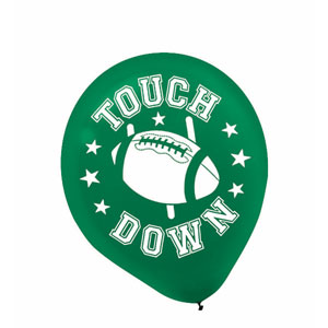 Football Printed Latex Balloons- 20ct