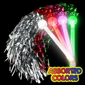 LED Metallic Pom Poms - Assorted