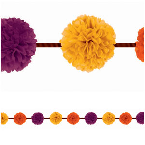 Fall Fluffy Garland- 2pc
