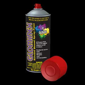 Glominex Glow Spray Paint 4oz - Red