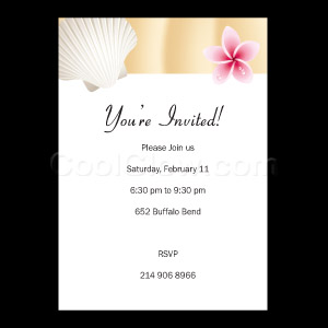Seashell - Custom Invitations