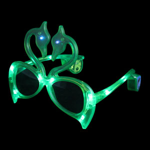LED Flamingo Sunglasses - Green