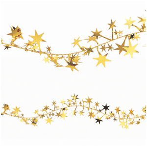 Gold Stars Wire Garland- 12ft