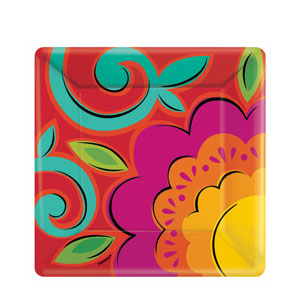 Caliente 10 Inch Square Plates- 18ct