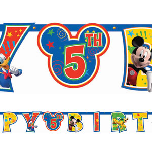 Mickey Add-An-Age Letter Banner- 10ft