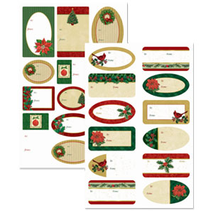 Traditional Adhesive Gift Tags- 100ct