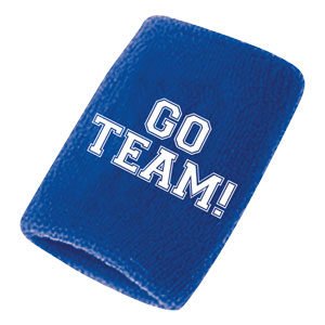 Go Team Sweatbands - Blue