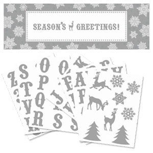 Silver Holiday Personalized Giant Sign Banner- 65 Inch