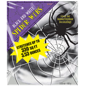 Black White Stretchable Spider Web- 3.53oz