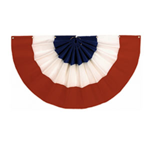 Velvet Patriotic Flag Bunting- 48in