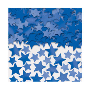 Metallic Star Confetti - Blue