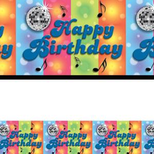 Disco Happy Birthday Banner Roll- 40ft