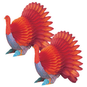 Turkey Honeycomb Centerpieces- 2ct