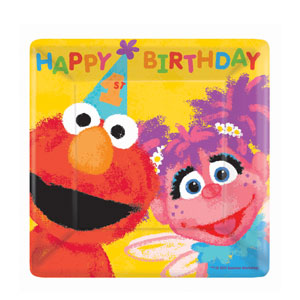 Sesame Street's 1st Birthday Luncheon Plates - 18ct