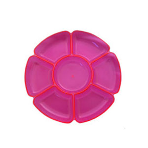 Neon 16 Inch Sectional Serving Tray - Pink