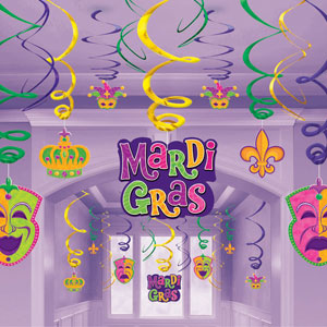 Mardi Gras Traditional Swirl Decoraitons