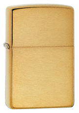 Solid Brushed Brass Zippo Lighter