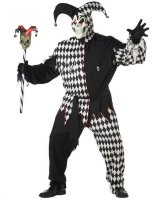 Evil Jester Adult Plus Costume - Plus (48-52)