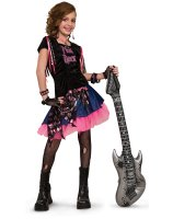 Pink Rock Girl Child Costume - Medium (8/10)