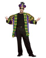 Mardi Gras King Adult Costume - Standard (One-Size)