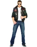 Top Gun Bomber Jacket Adult Costume Male - Medium