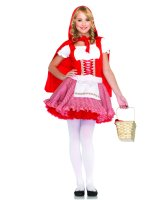 Lil' Miss Red Teen Costume - Teen (Small/Medium)