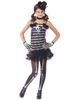 Skeleton Sweetie Teen Costume - Teen (0-9)