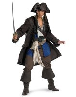 Pirates of the Caribbean Captain Jack Sparrow Prestige Adult Plus Costume - XX-Large (50-52)