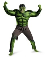 The Avengers Hulk Muscle Adult Plus Costume - XX-Large (50-52)