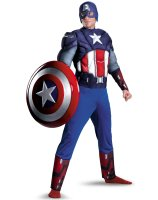 The Avengers Captain America Muscle Plus Adult Costume - XX-Large