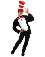 Dr. Seuss The Cat In The Hat Adult Plus Costume - XX-Large