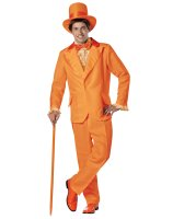Dumb and Dumber Lloyd Orange Tuxedo Adult Costume - One-Size (Standard)