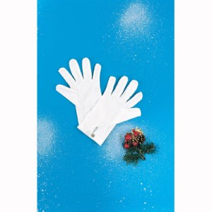 Santa Gloves - White / One Size