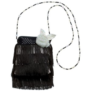 Flapper Handbag - Black / One Size