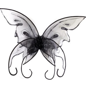 Black Butterfly Wings - Black / One Size