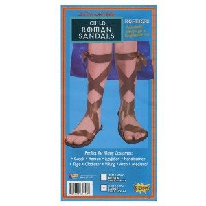 Roman Child Sandals - Brown / Large (4-6)