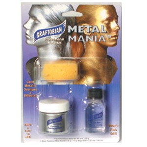 Metal Mania Silver Makeup Kit - Silver