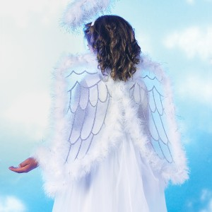 Pretty Angel Wings Child - White / One Size