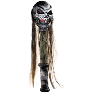 Voodoo Skull Staff - White / One Size