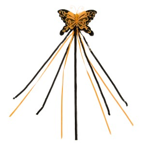 Orange Butterfly Wand - Orange / One Size