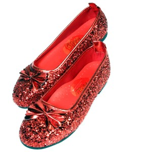 The Wizard of Oz - Ruby Child Slippers - Red / X-Small