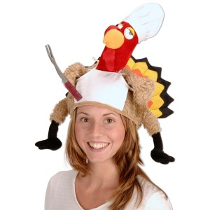 Plush Chef Turkey Hat Adult - Multi-colored / One-Size