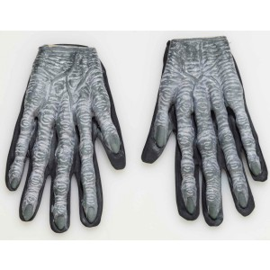 Zombie Gloves Adult - Gray / One-Size