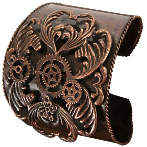 Steampunk Antique Copper Bracelet Adult - Brown / One-Size