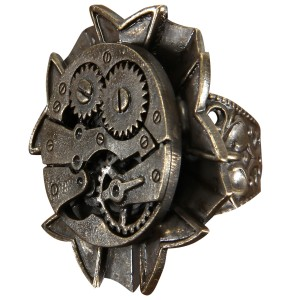 Steampunk Watch Gears Ring Adult - Brown / One-Size