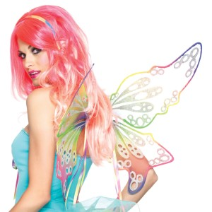 Fantasy Rainbow Fairy Wings Adult - Multi-colored / One-Size