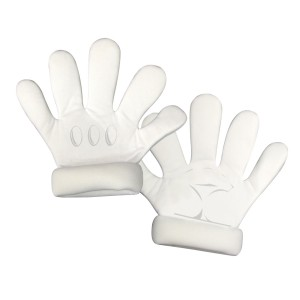 Super Mario Bros. Deluxe Adult Gloves - White / One-Size