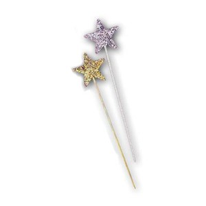 Sequin Star Wand - Silver