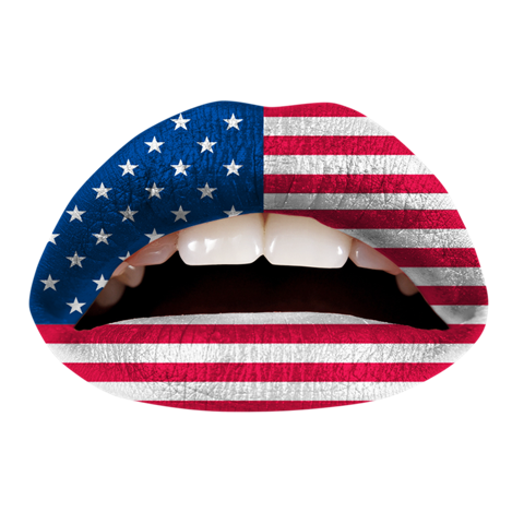 Temporary Lip Tattoos - American Flag