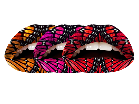 Temporary Lip Tattoos - Butterfly Multi-Pack